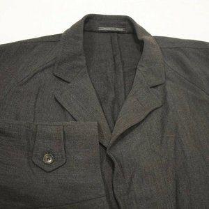 50L Ermenegildo Zegna Italy Charcoal Gray COAT